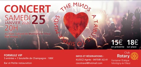 "Concert ""The Minds"" cover Simple Minds !"